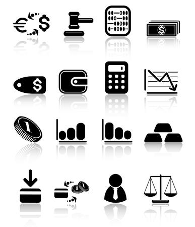 veiling: Geld raster icoonset. Vector versie is beschikbaar in mijn portefeuille
