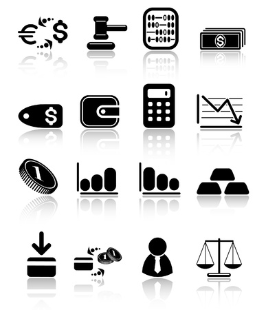 banking and finance: Money raster iconset. Vector version is available in my portfolio