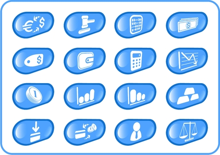 Money raster iconset. Vector version is available in my portfolio Stock Vector - 5164901
