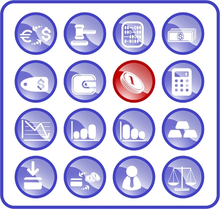 Money raster iconset. Vector version is available in my portfolio Stock Vector - 5164891