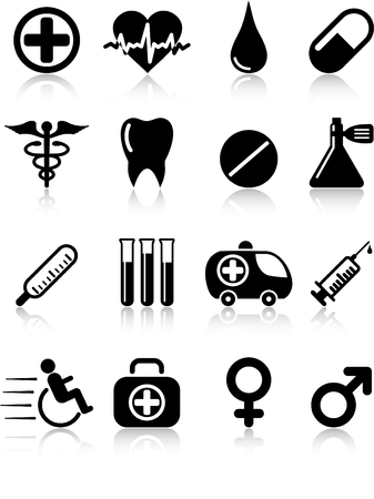 Medical and health care vector icons Stock Vector - 5164859