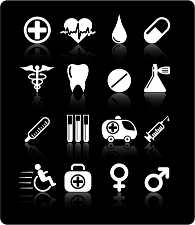 Medical and health care vector icons Stock Vector - 5164861