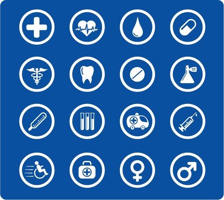 Medical and health care vector icons Stock Vector - 5164849