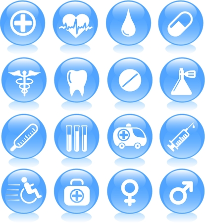 Medical and health care vector icons Stock Vector - 5164857