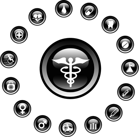 Medical and health care vector icons Stock Vector - 5164881