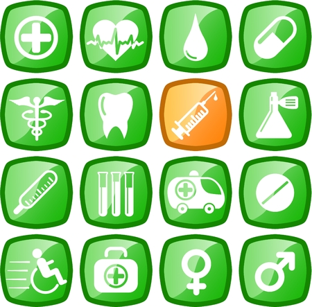 Medical and health care vector icons Stock Vector - 5164880