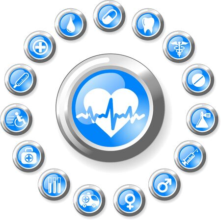 Medical and health care vector icons Stock Vector - 5164889