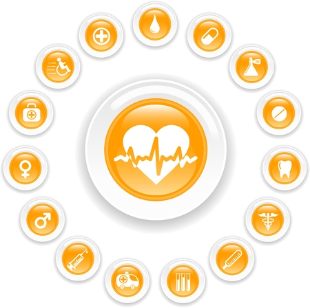 Medical and health care vector icons Stock Vector - 5164884