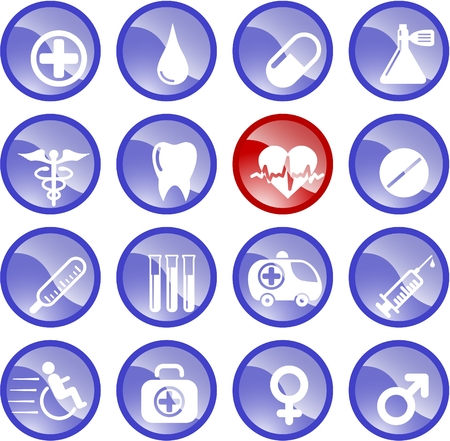 Medical and health care vector icons Stock Vector - 5164856
