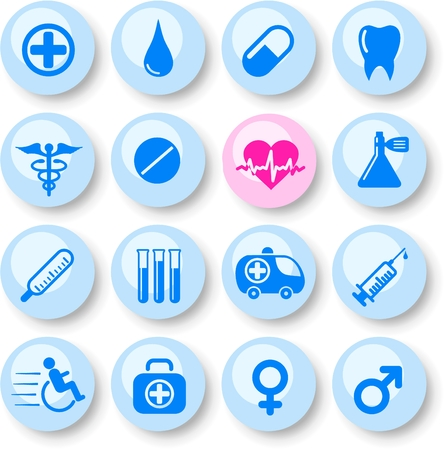 Medical and health care vector icons Stock Vector - 5164887
