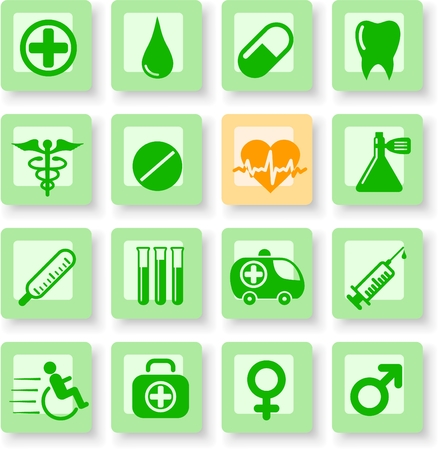 Medical and health care vector icons Stock Vector - 5164904