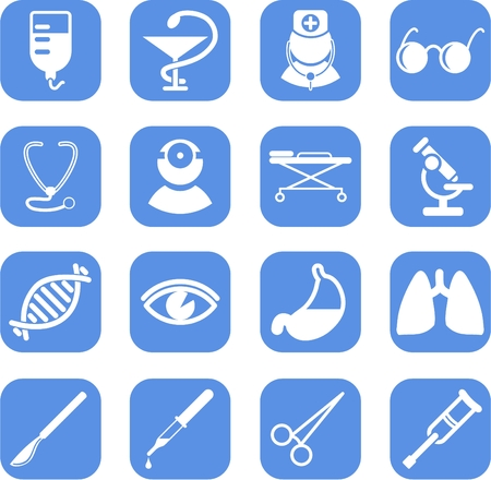 a physician: Medical and health care vector icons, part 2