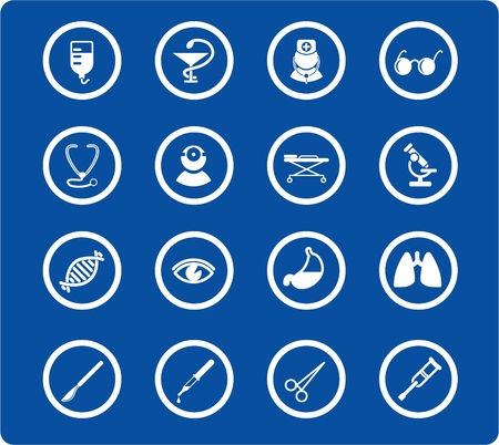 eye pipette: Medical and health care vector icons, part 2