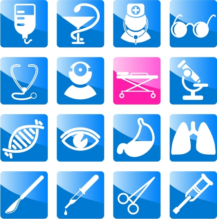 Medical and health care vector icons, part 2 Stock Vector - 5164838
