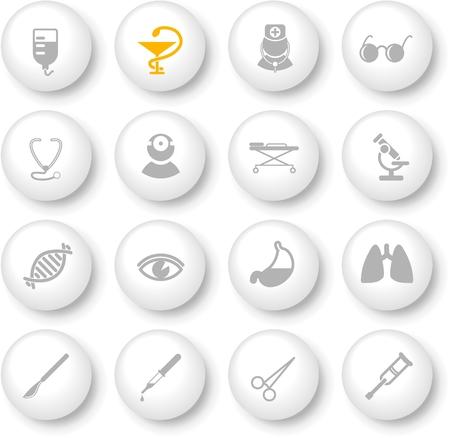 Atención médica y sanitaria de vectores iconos, parte 2
