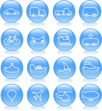 autobus: Travel and transportation vector icons
