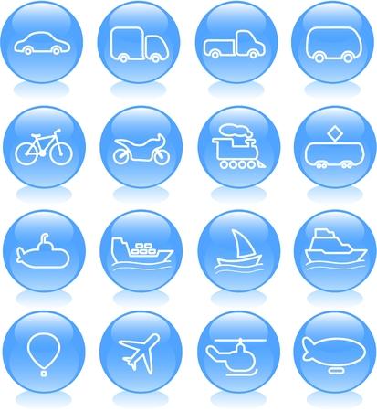 Travel and transportation vector icons Zdjęcie Seryjne - 5169688