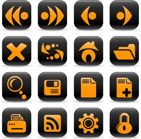 Browser vector icons Vector