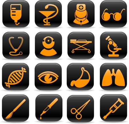 Medical and health care vector icons, part 2