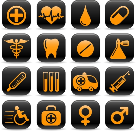 Medical and health care vector icons Stock Vector - 5169734