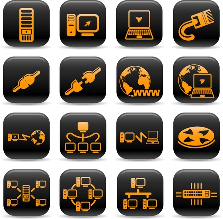Network vector iconset Vector