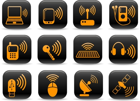 Wireless communications vector iconset Stock Vector - 5169698