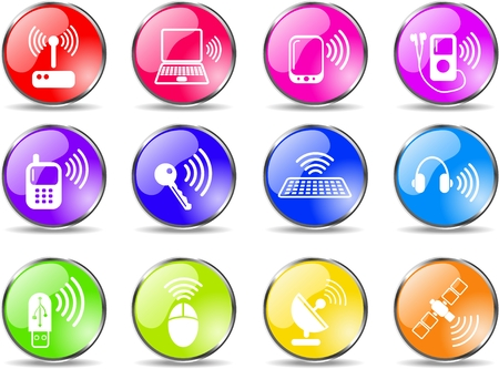 Wireless communications vector iconset Stock Vector - 5169704