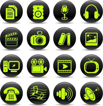 Miscellaneous multimedia vector icons Stock Vector - 5169740