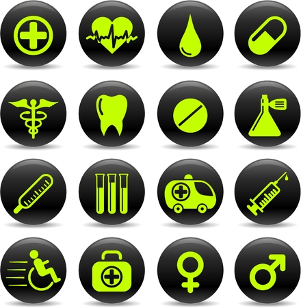Medical and health care vector icons Vector