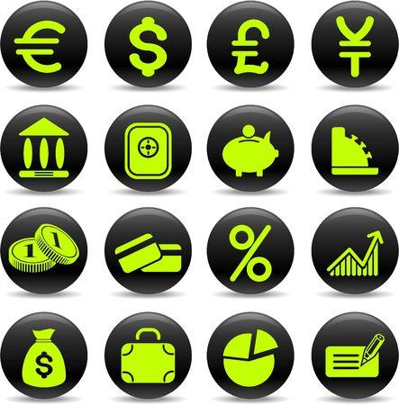 Money vector iconset Vector