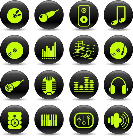 Music and audio vector icons Stock Vector - 5169733