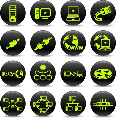 disconnected: Network vector iconset