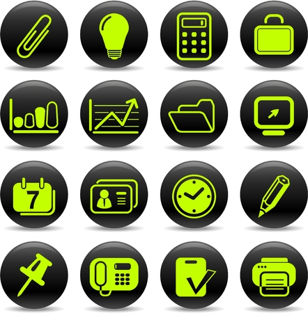 Miscellaneous office vector icons Illustration