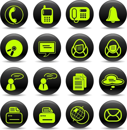 miscellaneous: Miscellaneous office and communication vector icons