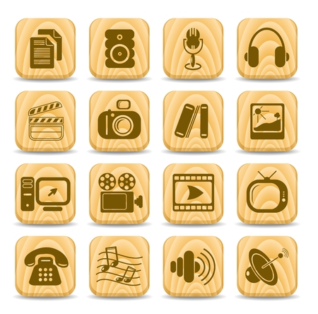 Miscellaneous multimedia vector icons Illustration