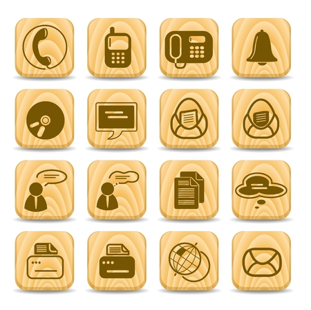 Miscellaneous office and communication vector icons Stock Vector - 5169769