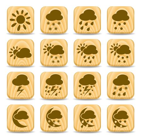Weather vector iconset Illustration
