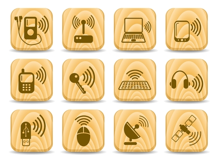 Wireless communications vector iconset Stock Vector - 5169729