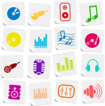 Music and audio vector icons Stock Vector - 5169786