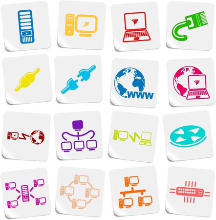 Network vector iconset Zdjęcie Seryjne - 5169790