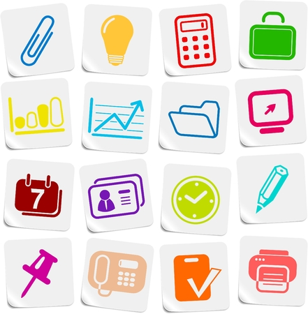 miscellaneous: Miscellaneous office vector icons Illustration