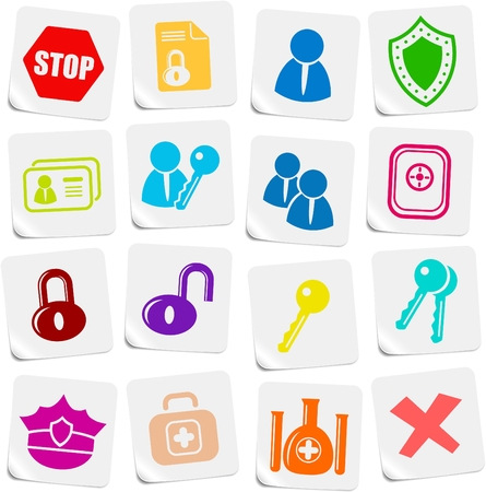 Security and antivirus vector icons Vector