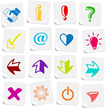 Miscellaneous signs vector iconset Stock Vector - 5169778