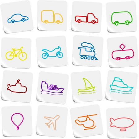 Travel and transportation vector icons Vector