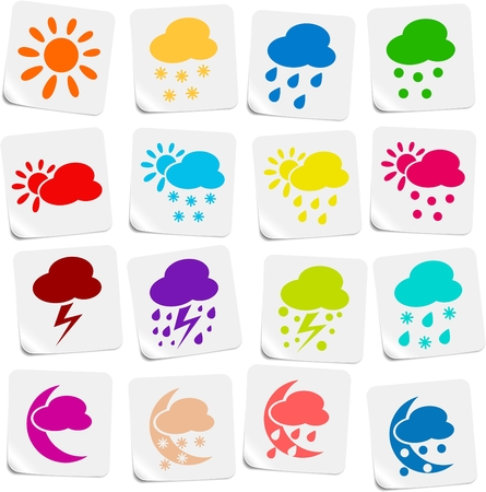 hailstorm: Weather vector iconset Illustration