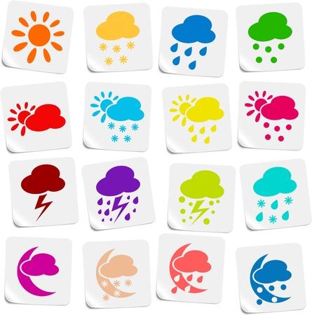 Weather vector iconset Ilustracja