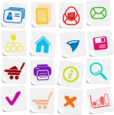 Miscellaneous vector web icons Vector