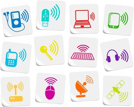 earbud: Comunicaciones inal�mbricas de vectores iconset