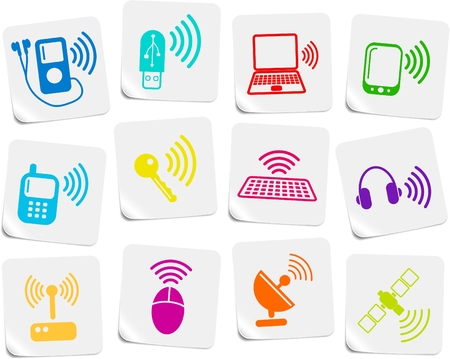Wireless communications vector iconset Stock Vector - 5169768