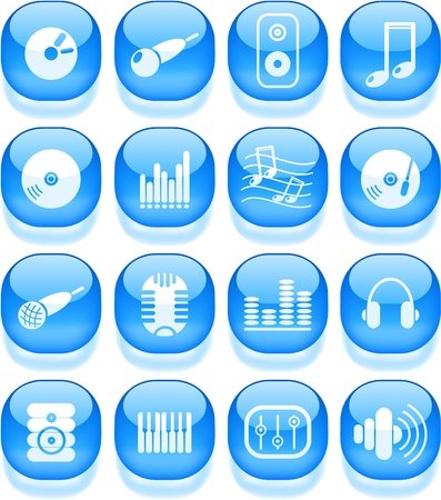 Music and audio vector icons Stock Vector - 5169835